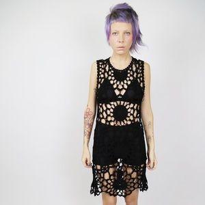 #UNIF Fleur Crochet Dress